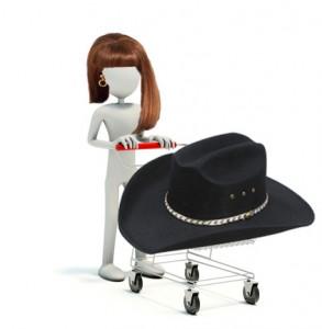 shpping cart cowboy